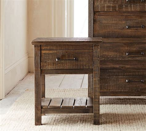 Reclaimed Pine Wood Bedside Tables