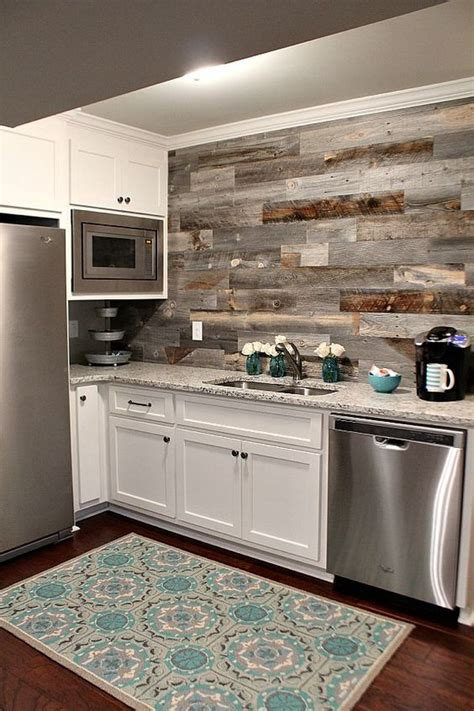 Reclaimed Wood Backsplash Diy Ideas