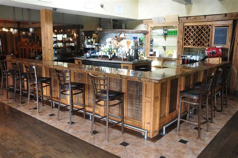 Reclaimed Wood Bar Plans