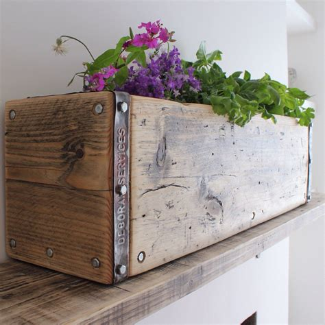 Reclaimed Wood Box Planter
