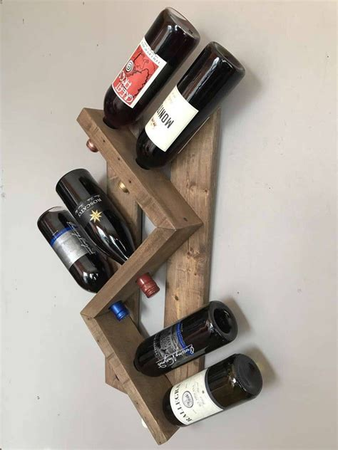 Reclaimed Wood Diy Wine Rack