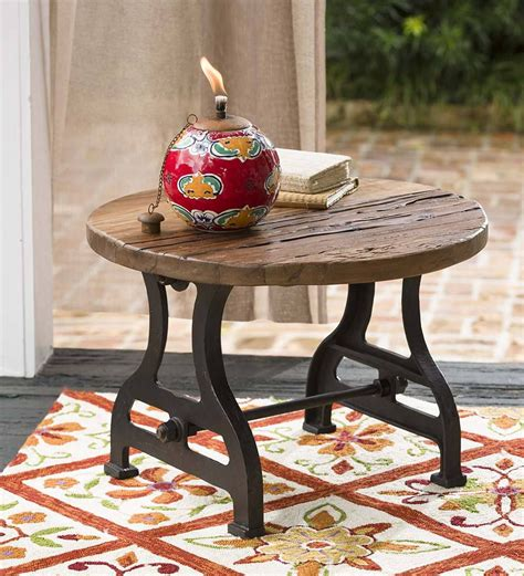 Reclaimed Wood End Table Diy With Wire