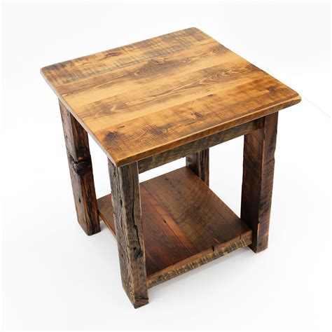 Reclaimed Wood End Table Plans