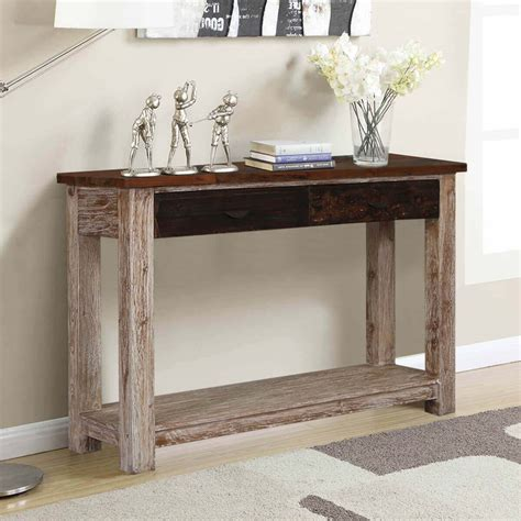 Reclaimed Wood Entry Table Drawers