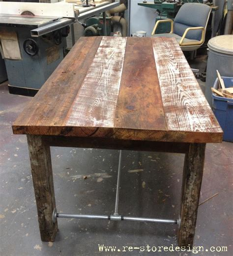 Reclaimed Wood Farm Table DIY