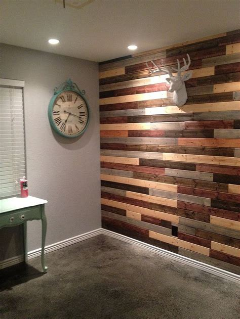 Reclaimed Wood Feature Wall Diy Paint