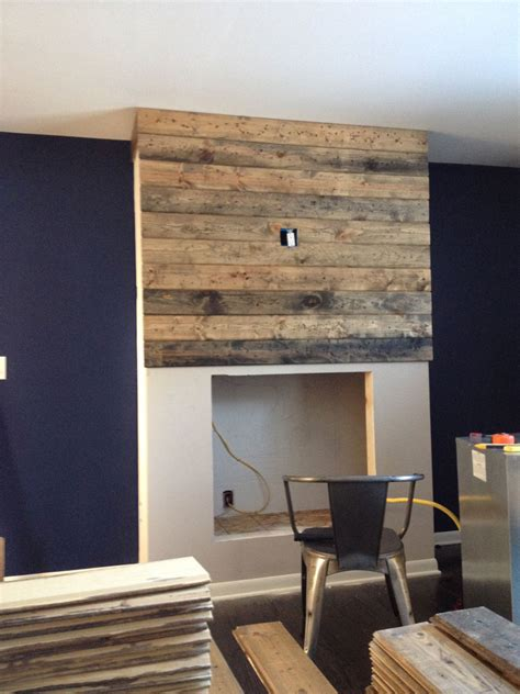 Reclaimed Wood Fireplace Surrounds Diy
