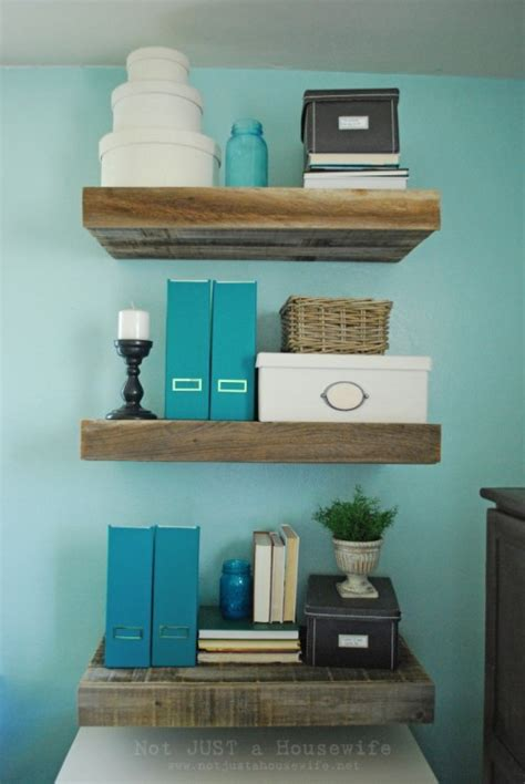 Reclaimed Wood Floating Shelves Diy