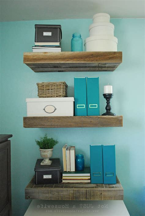 Reclaimed Wood Floating Shelves Diy Attaching