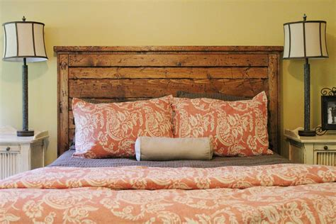 Reclaimed Wood Headboard King Diy Bed