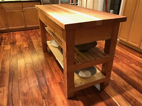 Reclaimed Wood Kitchen Island Diy Plans