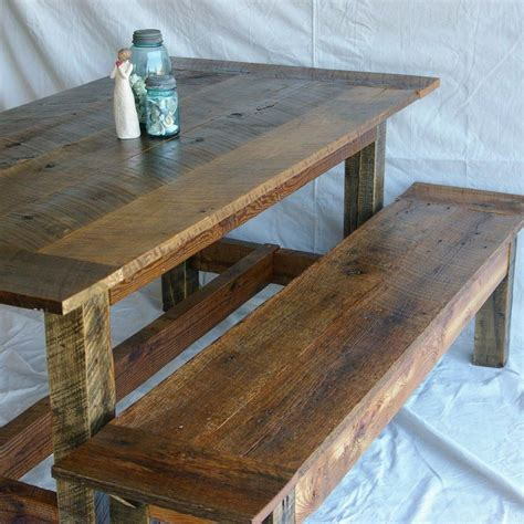 Reclaimed Wood Kitchen Table Diy Plans
