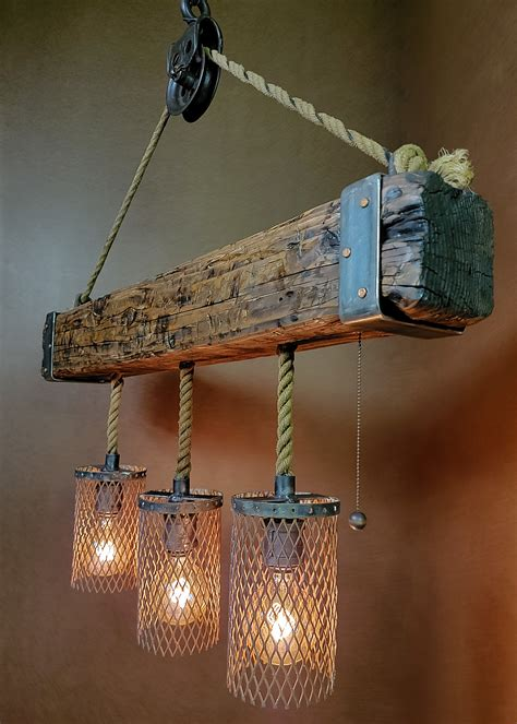 Reclaimed Wood Light Fixture Diy Fire