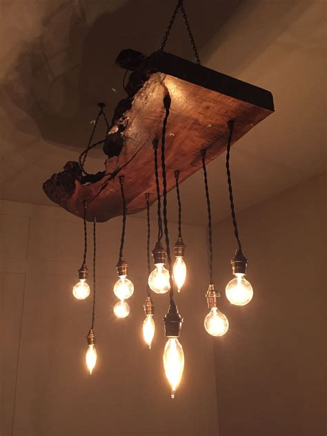 Reclaimed Wood Light Fixture Diy Room