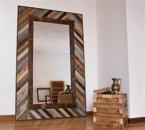 Reclaimed Wood Mirror Decorative