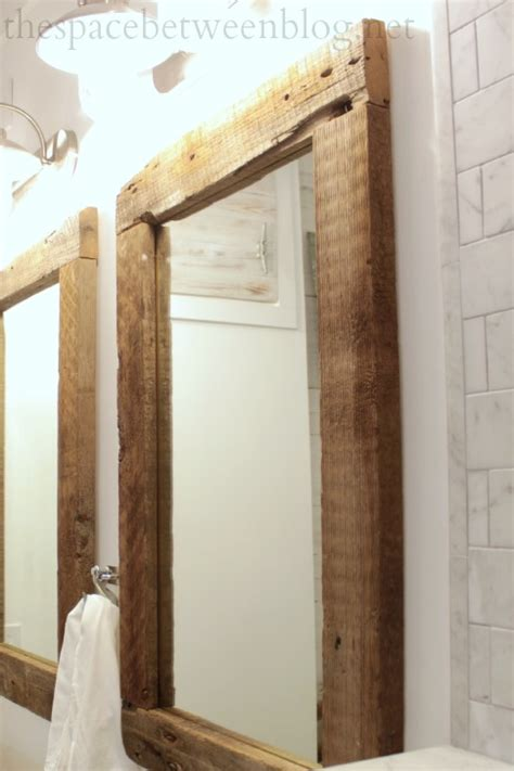 Reclaimed Wood Mirror Frame Diy