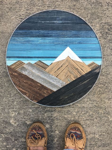 Reclaimed Wood Mountain Art Diy
