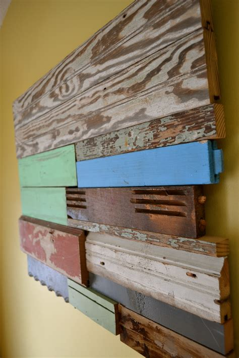 Reclaimed Wood On The Wall Diy Art