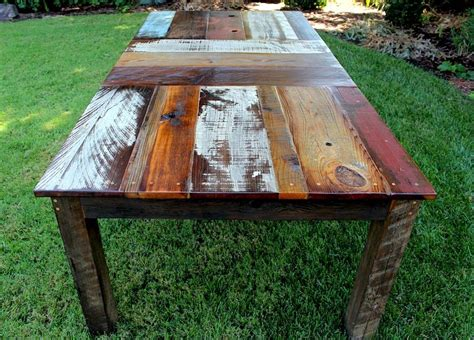 Reclaimed Wood Outdoor Dining Table Diy Pipe