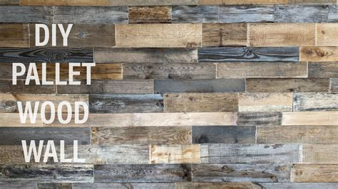 Reclaimed Wood Plank Wall Diy Youtube