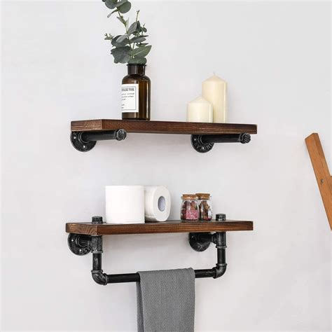 Reclaimed Wood Shelves And Pipes Diy Projects