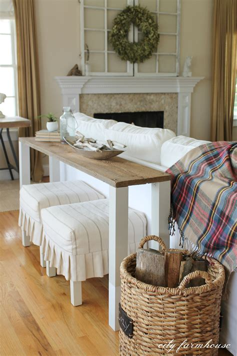 Reclaimed Wood Sofa Table Diy Images