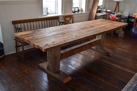 Reclaimed-Wood-Dining-Room-Table-Diy