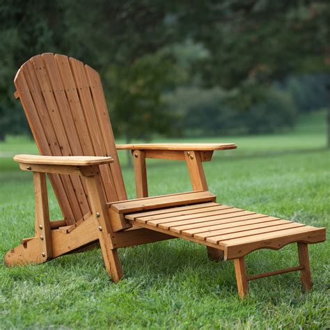 Reclining Adirondack Chair With Pull Out Ottoman Plans Highway