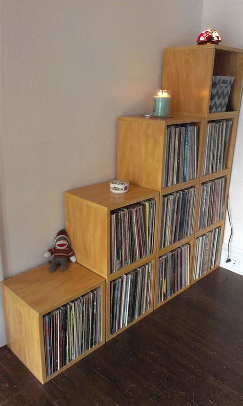 Record Storage Cube Diy
