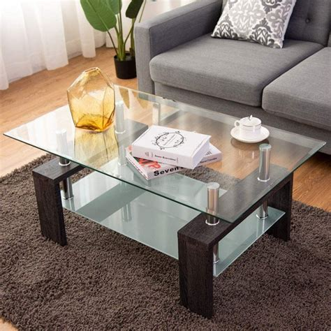 Rectangular Wood And Glass Coffee Table Plans