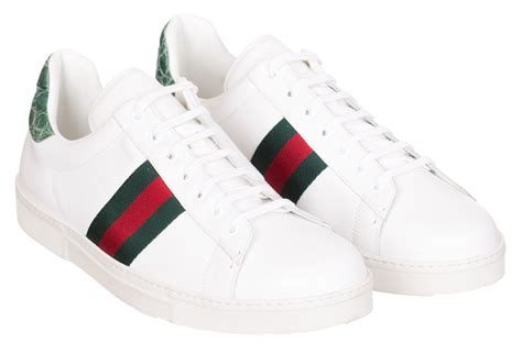 Red And White Gucci Sneakers