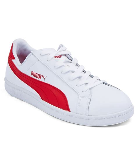 Red And White Puma Sneakers