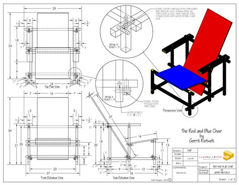 Red Blue Chair Plans