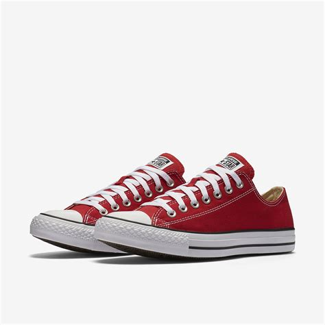 Red Converse Low Top Sneakers