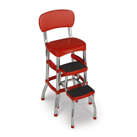 Red Cosco Chair With Step Stool