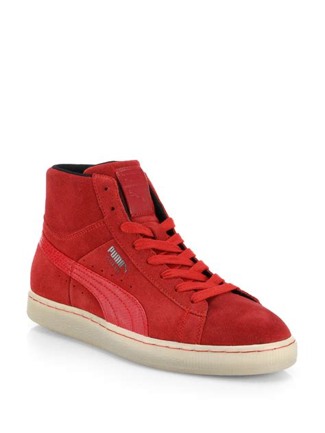 Red High Top Sneakers Puma