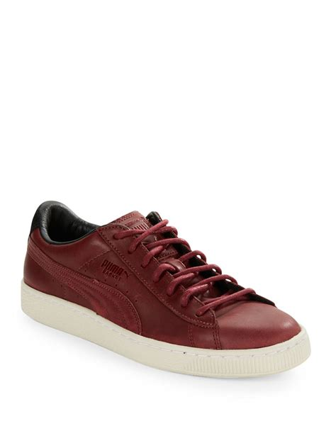 Red Leather Puma Sneakers