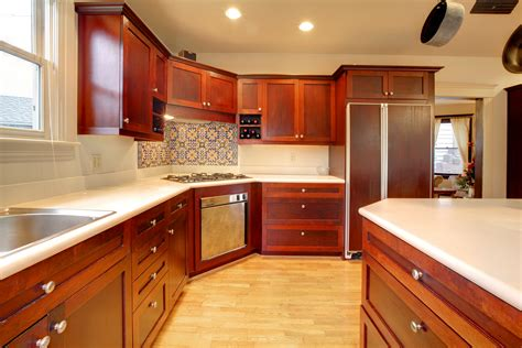 Red Mahogany Kitchen Cabinets Pictures