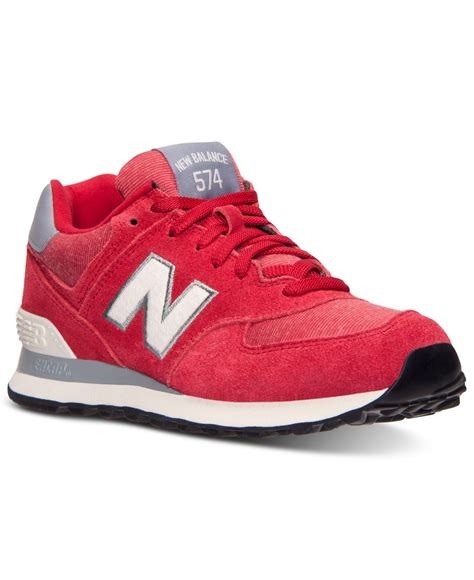 Red New Balance Sneakers Womens