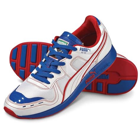 Red White And Blue Puma Sneakers