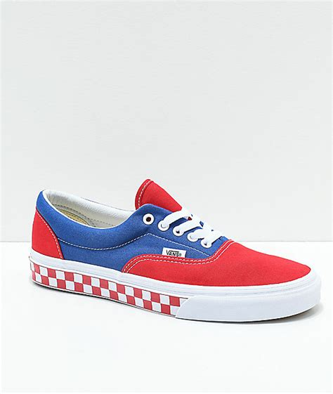 Red White And Blue Vans Sneakers