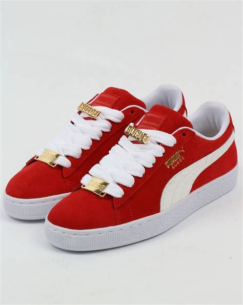 Red White Puma Sneakers