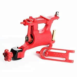 Red color ROTARY TATTOO MACHINE/GUN SWASHDRIVE WHIP ADJUSTABLE