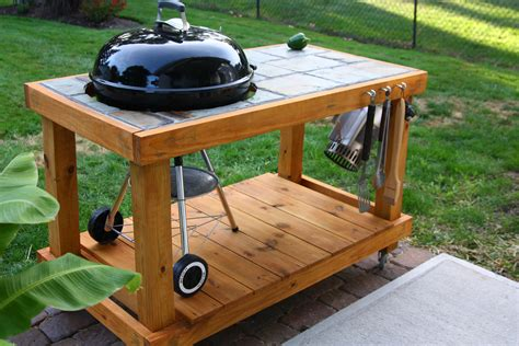 Redwood Diy Patio Bbq Table
