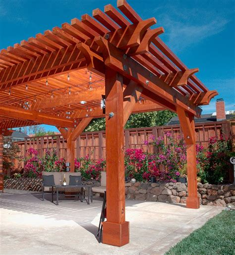 Redwood Pergola Plans Roof