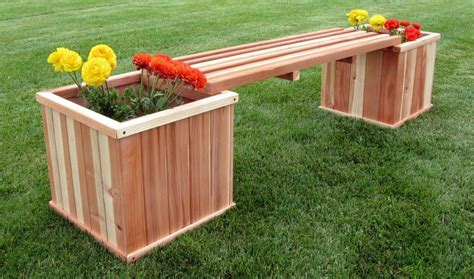 Redwood Planter Box Plans With Bench