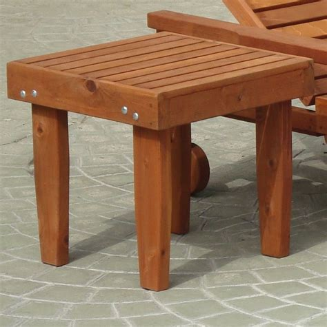 Redwood Side Table Plans