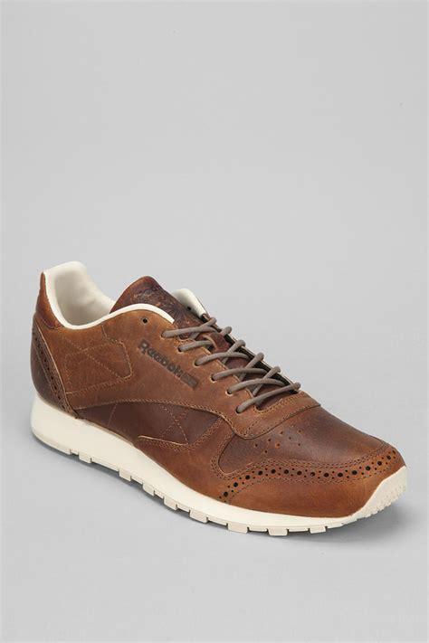 Reebok Brown Leather Sneakers