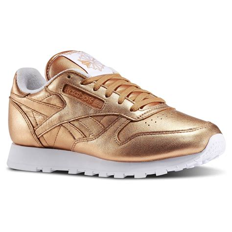 Reebok Classic Leather Gold Spirit Face Sneakers