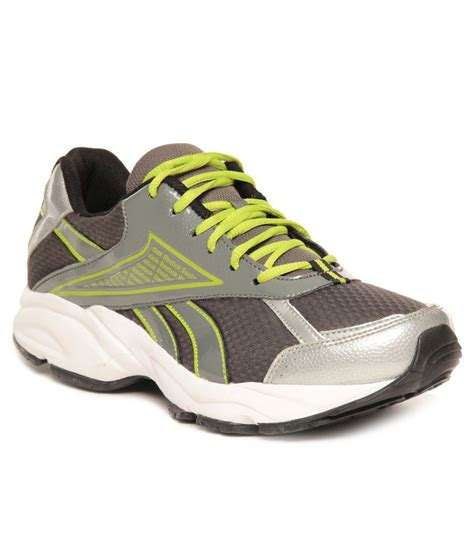 Reebok Gray And Green Women's Sneakers